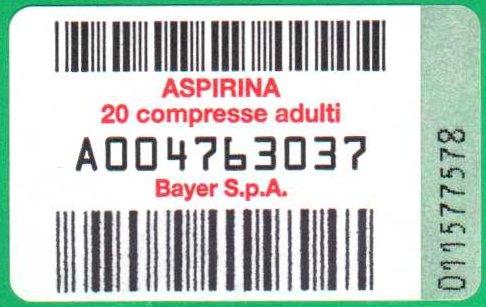 Aspirina Bayer 004763037